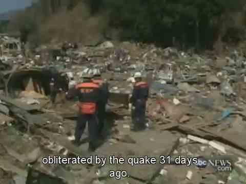 Abc world news japan one month after the earthquake that obliterated