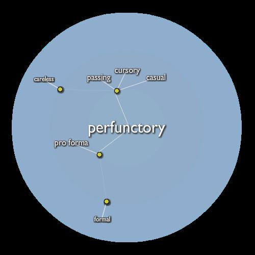Perfunctory